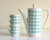 Mid Century Coffee Pot and Mugs by Mikasa