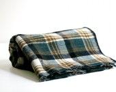 Vintage Wool Plaid Blanket