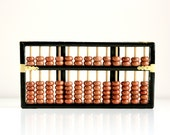 Vintage Wood and Brass Abacus