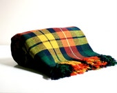 Vintage Wool Plaid Blanket - Scottish Tartan