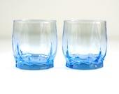 Bright Blue Tulip Glasses