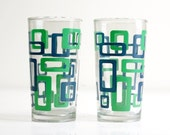 Mod Geometric Drinking Glasses