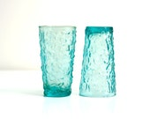 Vintage Aqua Lido Glasses by Anchor Hocking