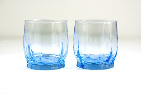 Bright Blue Tulip Glasses