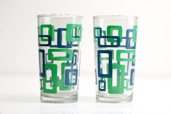Mod Geometric Drinking Glasses