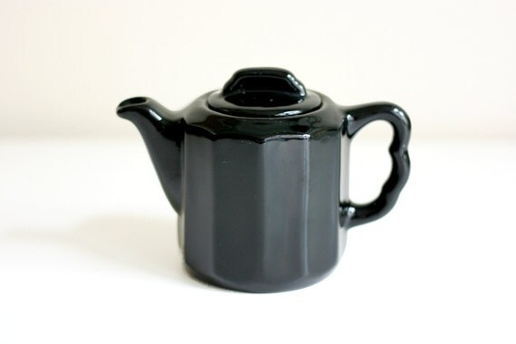 Little Black Teapot - Vintage Syracuse China Creamer