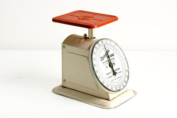 Vintage Trustworthy Deluxe Household Scale