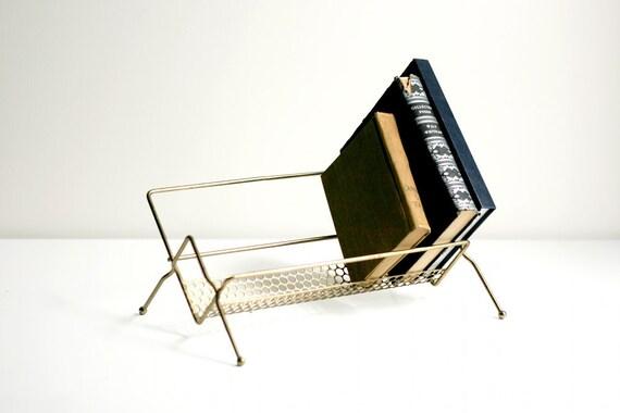 Mid Century Metal Book Rack