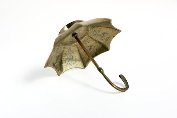 RESERVED - Vintage Brass Umbrella Dish