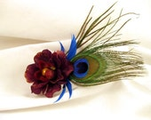 Fire and eyes hairclip