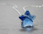 Sapphire (Royal Blue) Star Necklace Handmade with Swarovski Crystals