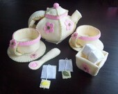 Felt Tea Party Set Pattern - Instant Download - PDF TUTORIAL