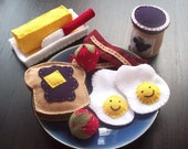 Instant Ebook Pattern - Felt Eggs and Toast Pattern - SUNNY BREAKFAST PDF Tutorial