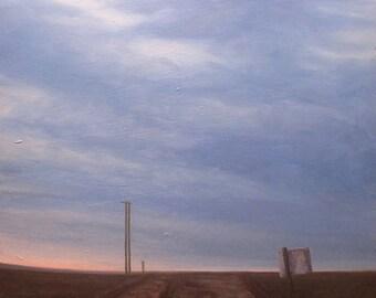 oil painting Landscape road original  - Fenton