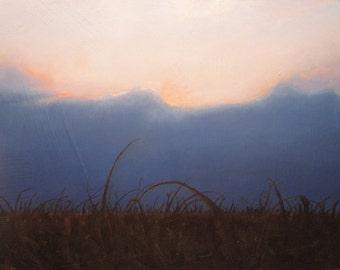 oil painting Landscape original - morning lite