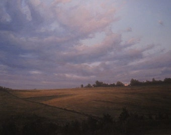 Landscape realism oil painting print - Away open