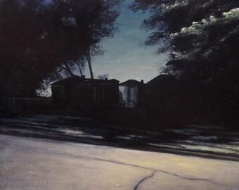 Landscape oil painting original - A Hint