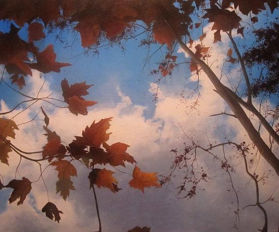 Held in Blue, original landscape oil painting