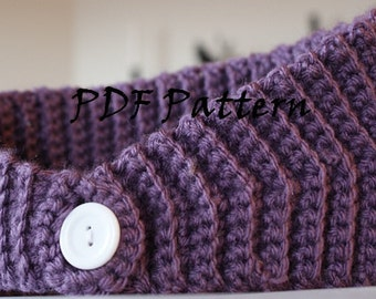 PDF Pattern for Crochet Winter Headband/Earwarmers