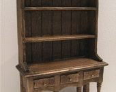 Dollhouse Tudor Kitchen Hutch or Dresser,  Hutch, twelfth scale dollhouse miniature
