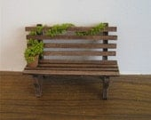 Garden bench, twelfth scale dollhouse miniature