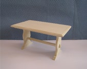 Trestle table. Twelfh scale dollhouse miniature