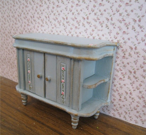 Buffet, small or drinks cabinet..  a dollhouse miniature in twelfth scale