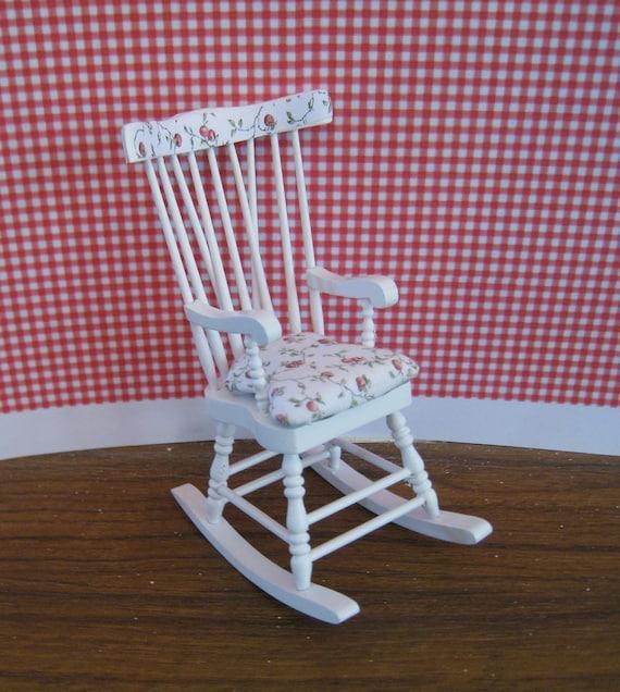 Rocker,  twelfth scale dollhouse miniature