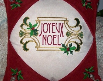 Joyeux Noel Decorator Pillow