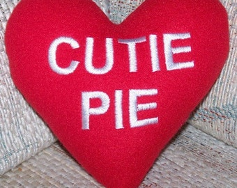 Cutie Pie Conversation Heart Pillow