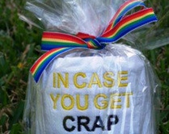 Crap for Birthday Embroidered Toilet Paper