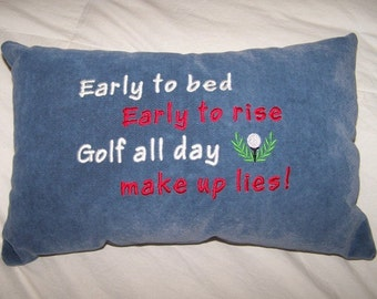 Early to bed, Early to Rise Golf Pillow