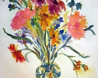 Wildflowers Watercolor Prints