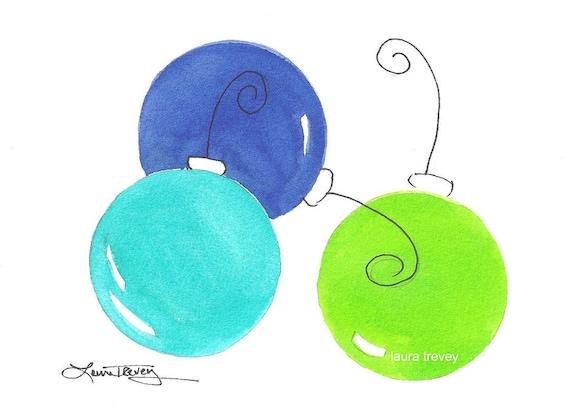 Original Painting Christmas Balls