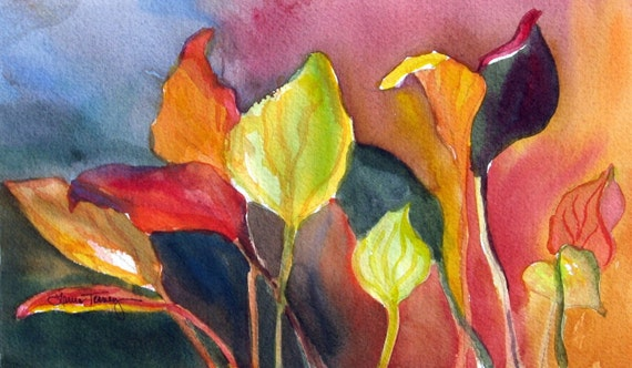 Hosta Leaves II, Limited Edition Print, by Laura L Trevey, Stylish Home Decor