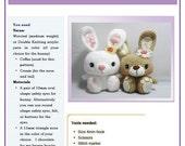 PDF Amigurumi  Pattern: Big Feet Bunny