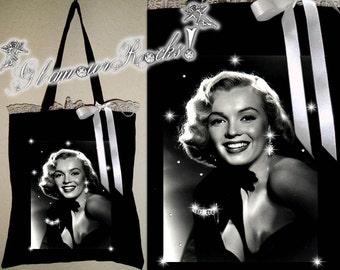 Marilyn Monroe Rhinestone Crystal Tote Book Bag Purse