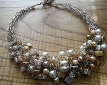 Glowing Crocheted Wire Necklace