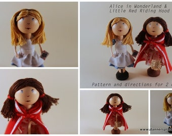 Clothespin Doll Pattern - Alice in Wonderland/ Red Riding Hood