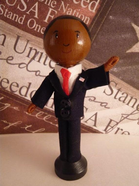 Barack Obama Clothespin Doll