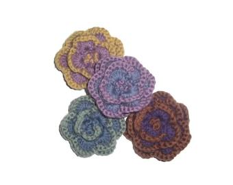 Crochet Flower Pattern, Crochet Corsage, Crochet Pattern PDF