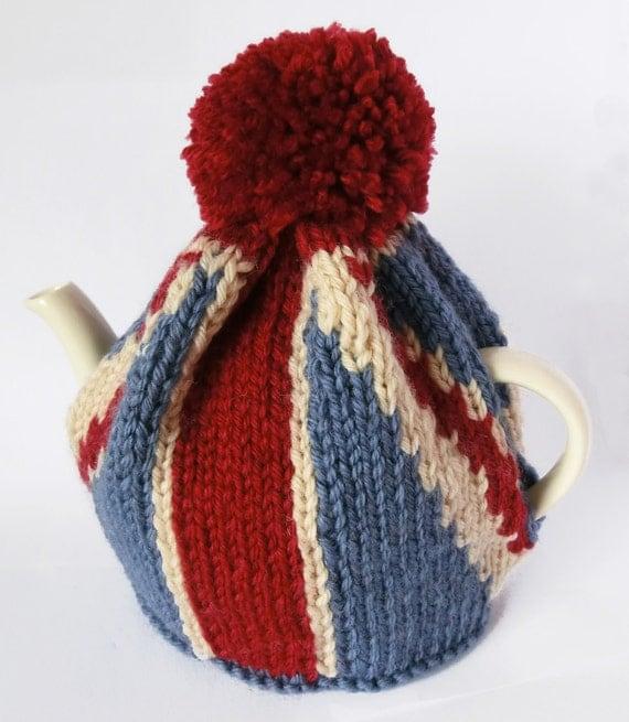 Teapot Cozy Knitting Pattern : Union Jack Tea Pot Cozy Knitting Pattern