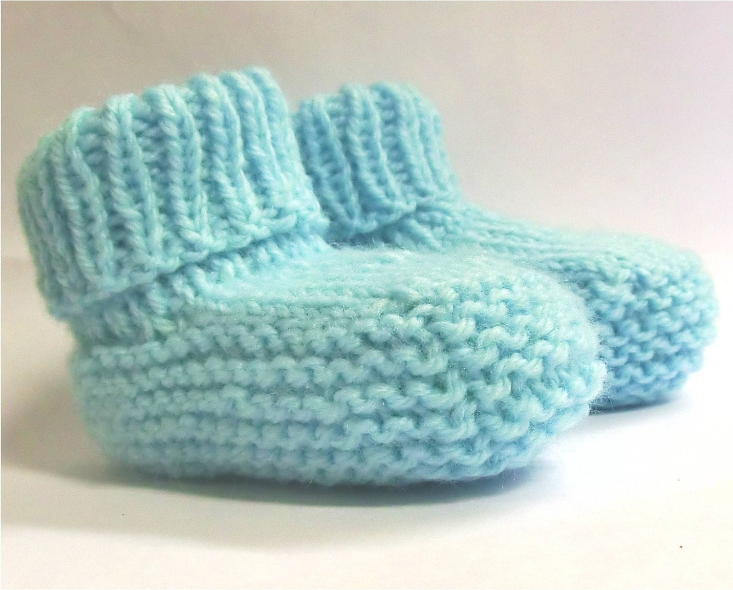 Knitting Pattern For Baby Boy Booties : Baby Booties Knitting Pattern PDF Instant Download