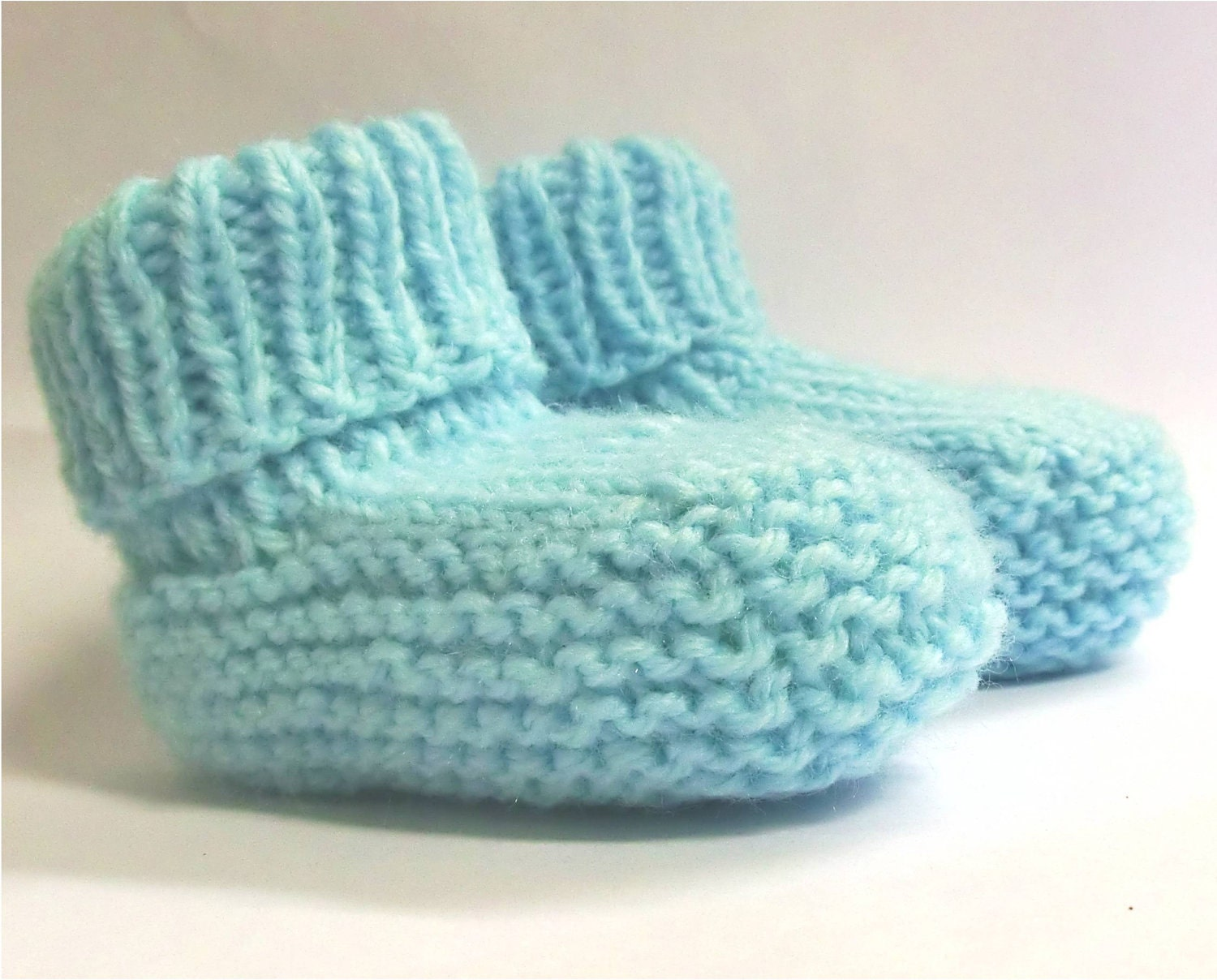 Knitting Patterns For Baby Booties Beginner : Baby Booties Knitting Pattern PDF Instant Download