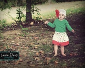 Childrens Clothing... the Holiday Holly Twirl Skirt.... handmade childrens clothing by laken and lila....baby..toddler..girls