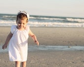 White Linen Peasant Dress.... baby..toddler..girls...eco-friendly..... handmade childrens clothing by laken and lila