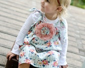 The Delainey Vintage Floral Collection... Floral Tablecloth Smocked Dress.... handmade childrens clothing by laken and lila