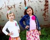 2 skirt package....Coordinating Sibling Skirts... big sister.. little sister... perfect for photo shoots.....