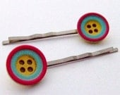 Tutti Frutti Button Hair Slides