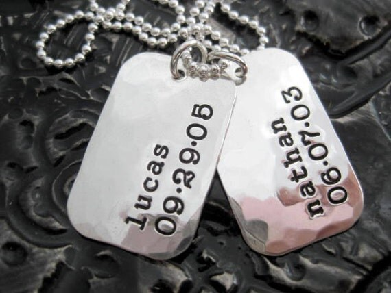 Personalized Dog Tags - Sterling Silver Dog Tags - Proud Dad